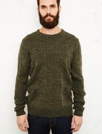 Suit Philip Cable Knit Sweater In Green