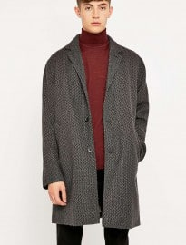 Shore Leave By Urban Outfitters Lucifer Charcoal Textured Overcoat
