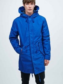 Selected Homme Iconic Fishtail Parka In Blue