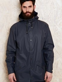 Rains Waterproof Rain Jacket In Navy