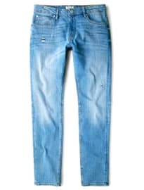 He By Mango Slim-fit Light Wash Tim Jeans