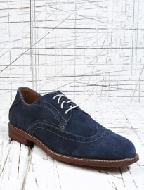 Florsheim Doon Suede Wing Brogues In Navy
