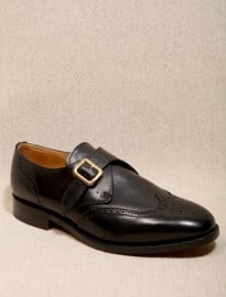 Sanders Black Monk Stampford Brogues