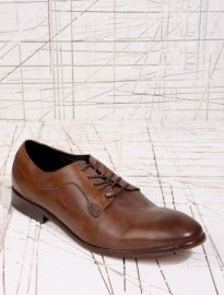 H By Hudson Gould Tan Leather Derby Shoes