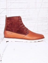 Pointer Caine Oiled Leather Boots In Brown