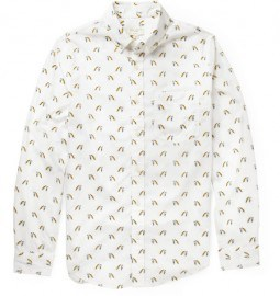 Club Monaco Printed Cotton Shirt