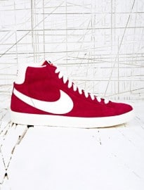 Nike Blazer Mid-top Perforated Trainers In Red