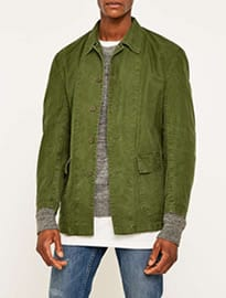 Urban Renewal Vintage Customised Olive Swedish Work Jacket