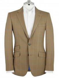 T.m.lewin Warton Olive Check Jacket