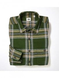 Uniqlo Men Flannel Checked Long Sleeve Shirt E