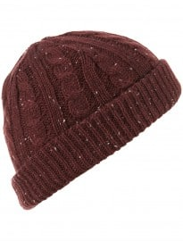 Topman Burgundy Neppy Turn Up Beanie