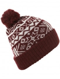 Topman Burgundy Patterned Beanie