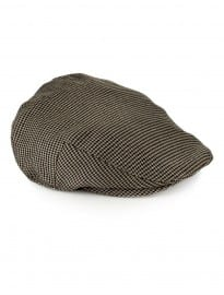Topman Brown Dogtooth Flatcap