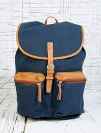 Sandqvist Roald Canvas Rucksack In Navy