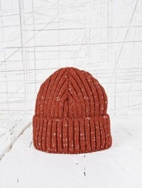 Slub Watchman Beanie Hat In Rust