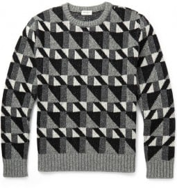 Saint Laurent Geometric-intarsia Wool Sweater