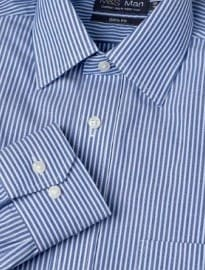 2 Longer Slim Fit Cotton Rich Non-iron Striped Shirt