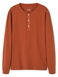 He By Mango Henley Cotton T-shirt