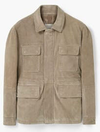 He By Mango Suede Field Jacket
