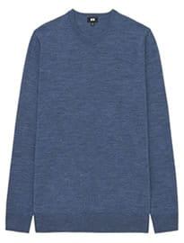 Uniqlo Men Extra Fine Merino Crew Neck Sweater
