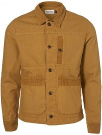 Topman Tobacco Cord And Canvas Jacket