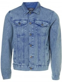 Topman Acid Wash Blue Denim Western