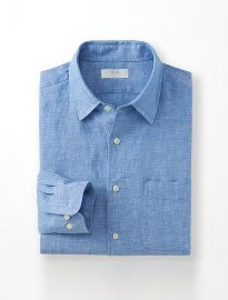 Uniqlo Men Premium Linen Long Sleeve Shirt