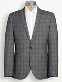 Next Light Grey Check Slim Fit Suit: Jacket