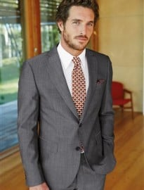 Grey Slim Fit Suit: Jacket