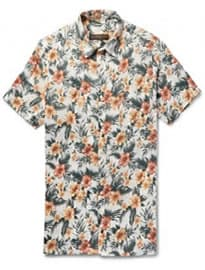 Freemans Sporting Club Floral-print Linen Shirt