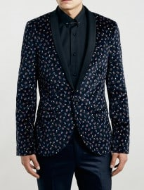 Topman Noose And Monkey Floral Blazer
