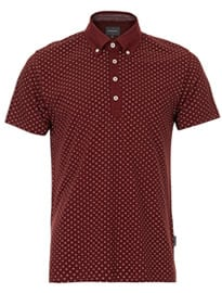 Topman Peter Werth Ritchie Polka Dot Polo Shirt