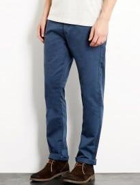 Topman Dark Blue Vintage Slim Chinos