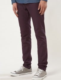 Topman Plum Stretch Skinny Chinos