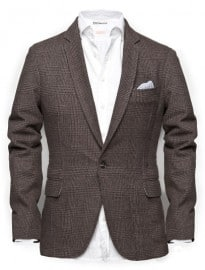 He By Mango Prince Of Wales Check Blazer