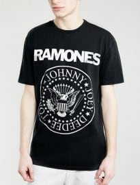 Topman Black Ramones Tour 77 T-shirt