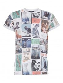 Topman White Jimi Ticket Stubs Tee