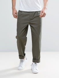 Selected Homme Chino In Wide Leg With Pleats