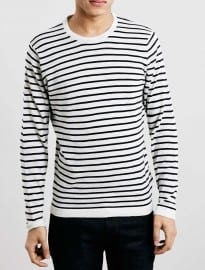 Topman Selected Homme Navy Stripe Jumper