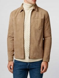 Topman Ltd Roadtrip Suede Harrington Jacket