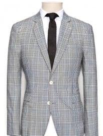 He By Mango Check Suit Blazer