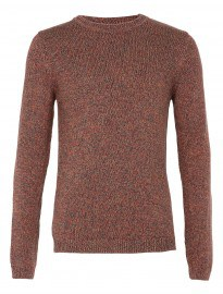 Topman Toffee Mixed Yarn Jumper