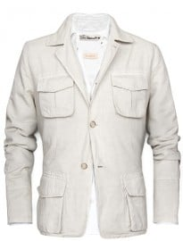 He By Mango Linen Cotton-blend Safari Jacket