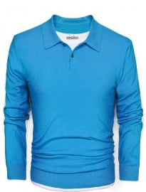 He By Mango Fine-knit Cotton Polo