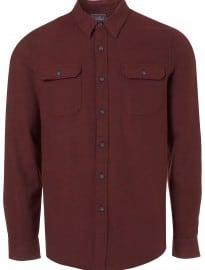 Topman Blackberry Flannel Shirt