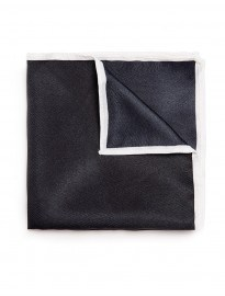 Topman Navy Border Pocket Square