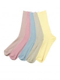 Topman Pastel Ribbed 5 Pack Socks
