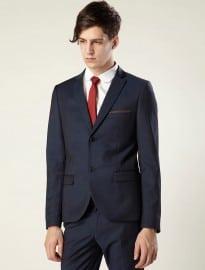 Topman Navy Tonic Skinny Suit Jacket