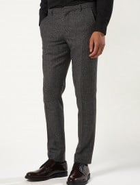 Topman Grey Vento Tweed Skinny Suit Trousers