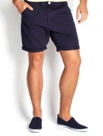 Burton Navy Chino Shorts